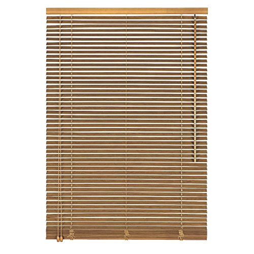Easy-Shadow Holzjalousie Holz-Jalousie Bambus Jalousette Echtholz Rollo Jalousette 80 x 100 cm / 80x100 cm in Farbe Eiche - Bedienseite Links // Maßanfertigung