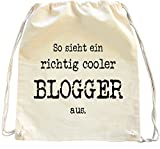 Mister Merchandise Turnbeutel natur Rucksack Blogger , Farbe: Natur