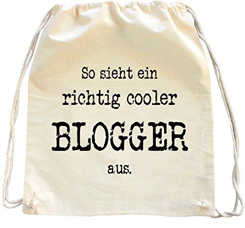 Mister Merchandise Turnbeutel Natur Rucksack Blogger, Farbe: Natur