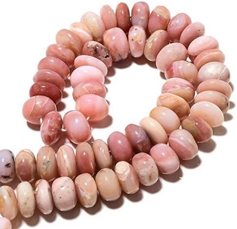 GemAbyss Raleigh Mall Beads Gemstone Pink Peruvian Rondelle Opal Popular overseas