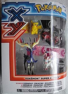 TOMY Pokemon XY Super 4 Pack Xerneas, Pikachu, Sylveon and YVELTAL