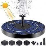Depmog Solar Fuente Bomba 3.5W, Fuente Flotante de Bomba de Agua Solar Batería incorporada de...