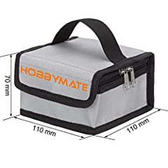 With a secure heavy-duty velcro closure and vents to reduce pressure, two way zipper to ensure the bag awway from oxygen to make sure in accident lipo fire to last long time and develop to a huge disaster. Made of supreme fire retardant fiberglass ny...