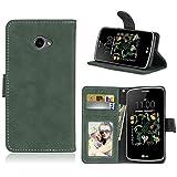 Ycloud Portefeuille Coque pour LG K5 Smartphone, Mate Texture PU Cuir Flip Magnétique Housse avec...