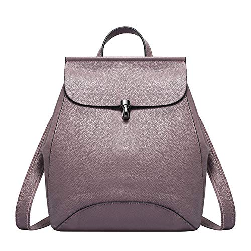 Leather ladies backpack anti-theft rucksack ladies travel bag ladies backpack student backpack-Purple