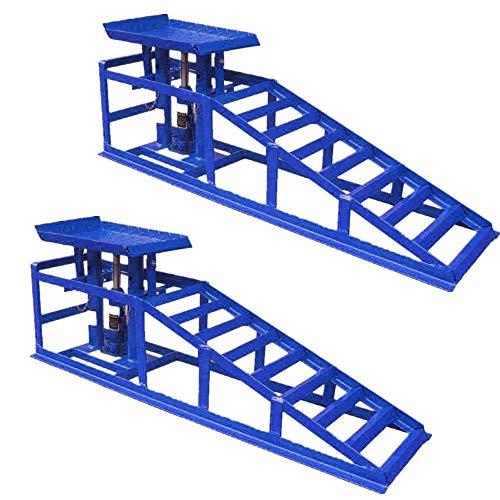 MCTECH 2 Stück Auto PKW Auffahrrampen Laderampe Set Hebeplattform höhenverstellbar, bis 240er Reifen 2000 kg