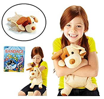 Image: Kids Reusable Hot and Cold Therapy Packs | with Plush Animal Toy | FREE Box of 50 Bandage Strips | Microwaveable Gel Compress or Ice Frozen Pack | Children's Boo Boo, Injuries, Pains and Swelling