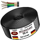 Erdkabel Stromkabel 25m oder 50m NYY-J 5x2,5 mm² Elektrokabel Ring zur Verlegung im Freien, Erdreich (50m)