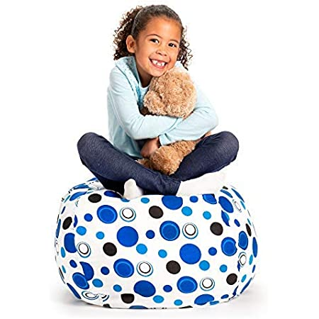 ArcticWhale Storage Bean Bag Chair 38 Inch Extra Large Toy Fill Beanbag Cover Animal Plush Toy Organizer for Kids Stuffed Seat Storage Sack Soft Smooth Polyester Kid/'S Room Originality,Football