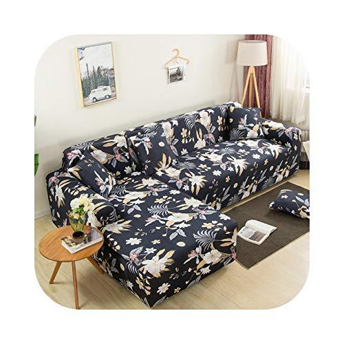 Sofabezug, L-Form, 2 Stück, Möbelschutz, Sofa-Schutz, elastisch, Ecken, Sofa, Farbe 23 – 2 – 2 Stück