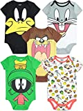 Warner Bros. Looney Tunes Bodys para Bebé Niño y Niña - Pack de 5 (6-9 Meses)