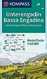 KOMPASS Wanderkarte Unterengadin, Bassa Engadina, Nationalpark, Parco Nazionale: Wanderkarte. GPS-genau. 1:40000: Wandelkaart 1:40 000 (KOMPASS-Wanderkarten, Band 98)