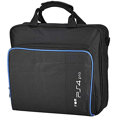 Yuyanshop Portátil para PS4 Pro Game System, bolsa de hombro, bolsa de almacenamiento de viaje, mochila para cámara, bolsa para cámara, trípode para lentes de fotógrafo, color negro
