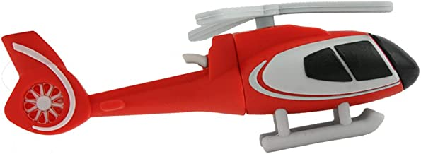 FIRSTMEMORY 32GB USB 2.0 Flash Drive, Novelty Helicopter Shape USB Flash Disk Thumb Drive Pen Drive Memory Stick Data Storage Pendrive Gift (32 GB, Red)