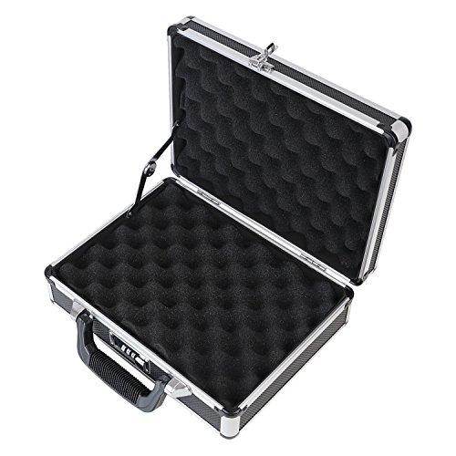 HMF 14401-02 Aluminium Wapenkoffer voor Pistolen met Cijferslot | 31 x 26 x 11 cm | Zwart