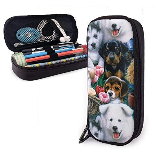 Zipper Pencil Pouch, hondenmand en honden ritssluiting potloodzakje, aantrekkelijke penhouder voor wandelen op kantoor, 20 x 9 x 4 cm