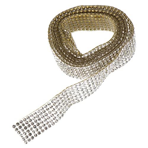 EXCEART 1 Rollo de Cinta de Diamantes de Imitación de Cristal Cinta Acrílica de Diamantes de Imitación Cinta de Malla de Diamante de Imitación Brillante para Boda Pastel Decoraciones de
