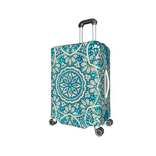 XJJ88 RoyalBlue Mandala Travel koffer beschermhoes - Etnische stijl Spandex 4 maten pak voor veel Trolley