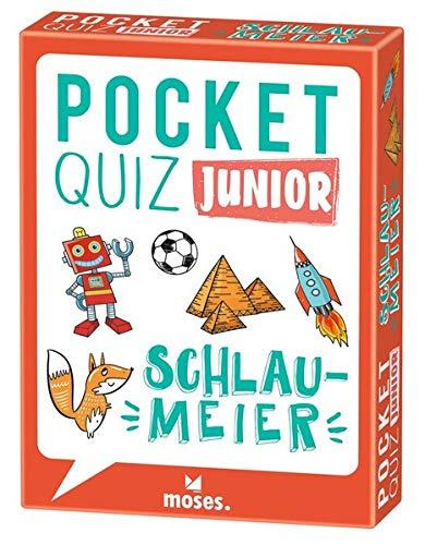 moses. Pocket Quiz Junior Schlaumeier | Das Ratespiel mit Fragen zum Allgemeinwissen | Für Kinder ab 8 Jahren