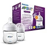 Philips Avent SCF030/27 Lot de 2 Biberon Natural 125 ml - 0 Mois+