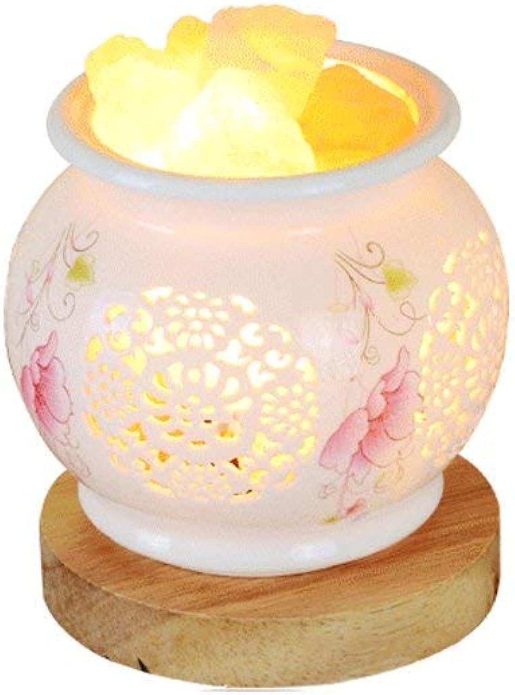 SGWH  Crystal Salt Tischlampe Himalayan Night Light Koreanische Studie zum Strahlenschutz Keramik Tischleuchte Warmes Schlafzimmer Nachttischlampe Kreative Beleuchtungskrper Hhe  14 cm (Farbe  A)