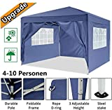 Oppikle 3x3m /3x6m Garden Gazebo Marquee Tent with Side Panels, Fully Waterproof, Powder