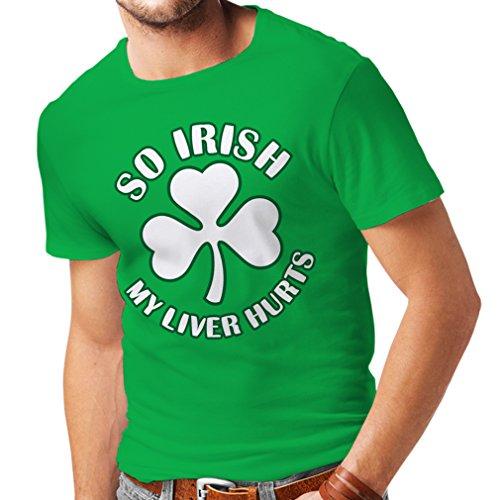 lepni.me T-Shirt da Uomo St. Paddy's Day Sayings Shirts, So Irish (Large Verde Multicolore)