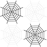 URATOT 4 Pack 11 Feet Halloween Spider Web White and Black Gianat Spider Web Fake Spider Web for Halloween Outdoor Decorations