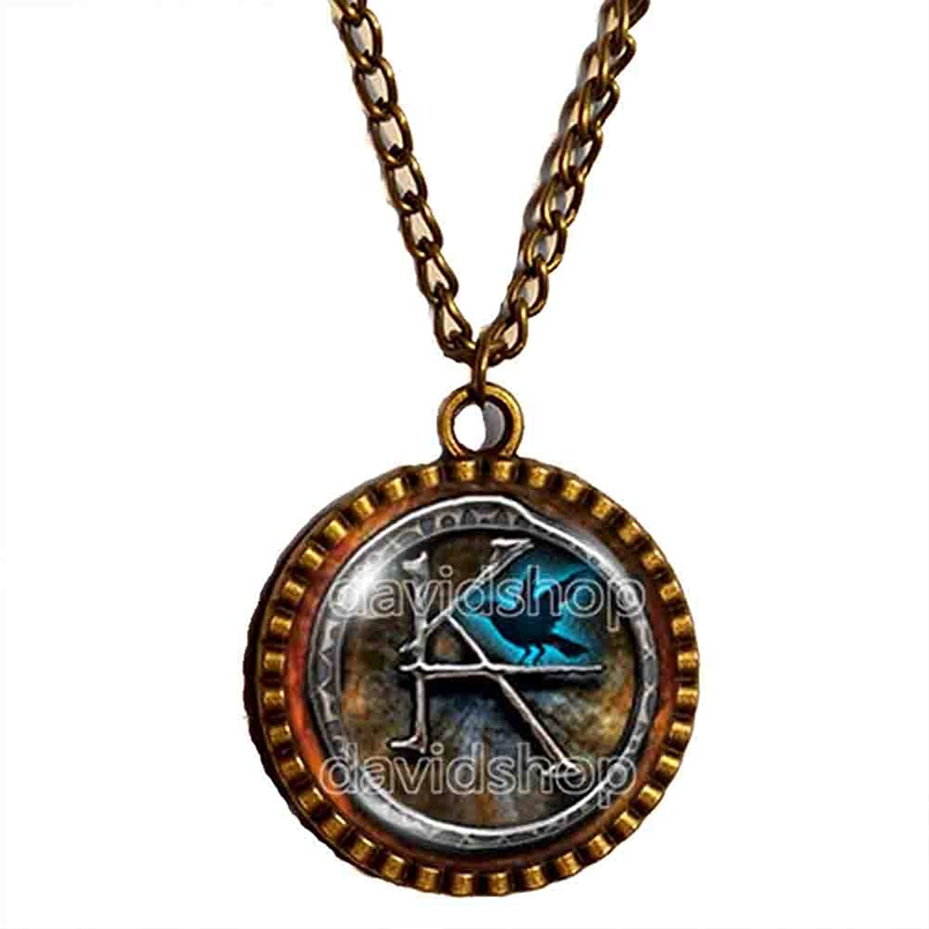 Handmade Design By ShiCong Fashion Jewelry Art The Dark Tower KA Symbol Necklace Pendant Cosplay Charm Gift