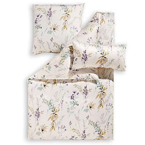 ESTELLA Bettwäsche Mariella | Lavendel | 135x200 + 80x80 cm | bügelfreie Interlock-Jersey-Qualität | pflegeleicht und trocknerfest | ideale Vier-Jahreszeiten-Bettwäsche | 100% Baumwolle