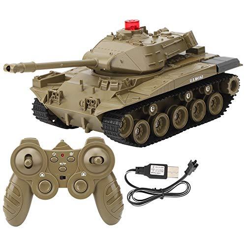Mini RC Panzer mit USB-Ladekabel Fernbedienung Panzer Panzer, mit Fernbedienung, Batterie, Licht, Sound, Drehturm und Rückstoßaktion 1/30 270 Grad für Modell Spielzeug Geschenk (Grün)