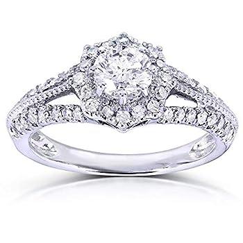 Kobelli Vintage Diamond Engagement Ring 7/8 CTW in 14k White Gold Size 7