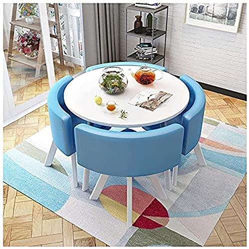 XKun Juego de mesa de cocina, varias mesas y sillas combinadas, 1 mesa y 4 sillas