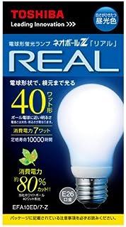 東芝 電球形蛍光灯 A10形・昼光色ネオボールZリアル EFA10ED/7-Z EFA10ED/7-Z  口金直径26mm