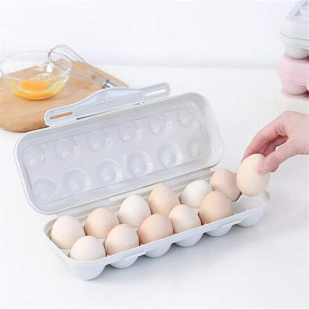 SJHFG Eier Aufbewahrungsbeh/älter-Halter-Beh/älter Ist K/ühlschrank Transport einlagige Abdeckung beweglicher Ei-Kasten,Grau