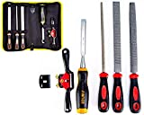 Woodworking Working Tool Set, 3 Packs Carbon Steel File Set, 8' Woodworking Spoke Shave, Wood Chisel Tool for Professional Hobby Project DIY Wood Working, with Storage Bag