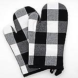 Juego de 2 guantes de horno de 100 % algodón, prácticos guantes de horno, guantes de cocina resistentes al calor