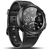 Vigorun Smartwatch Reloj Inteligente Hombre Mujer, Pantalla Táctil Completa Relojes Deportivos, Monitor Ritmo Cardíaco y Sueño, Podómetro, 5 ATM Impermeable Pulsera Actividad Inteligente Android Negro