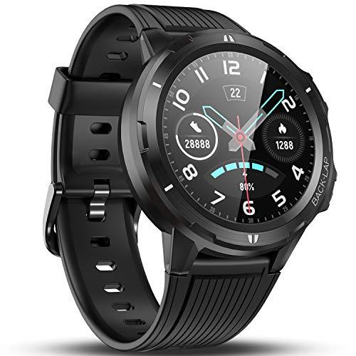 Vigorun Smart Watch for Men Women, Fitness Watch Fitness Tracker, Pedometer, Heart Rate Monitor, Sleep Tracker, 14 Days Battery Life, 1.3'' Full Touch Screen, 5ATM Waterproof Activity Tracker Black