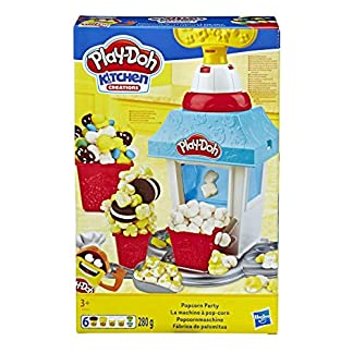 Play-Doh Popcornmaschine mit 6 Dosen Play-Doh Knete, ab 3 Jahren 2