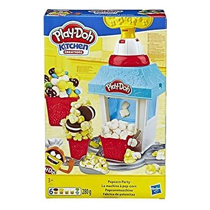 Play-Doh Popcornmaschine mit 6 Dosen Play-Doh Knete, ab 3 Jahren 1