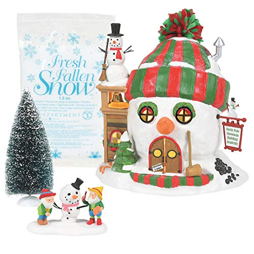 Department 56 North Pole Building Christmas Cheer Figurine, Set of 4
