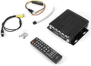 Qii lu Grabador de video para automóvil, Dispositivo de monitoreo de cámara DVR de video de 4 canales AHD para vehículo para autobús y camión