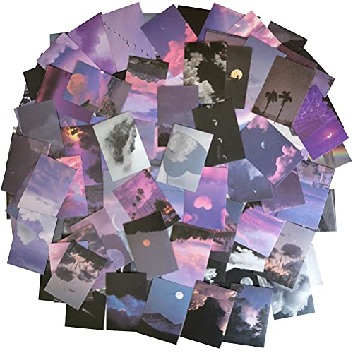 Washi Paper Stiker Set 100 Pieces Stars Moon Cloud Moutain Sea Forest Night Fall Scenery Adhesive Stickers for Scrapbooking Art Project Journals Planners Diary Letters Cards Envelopes
