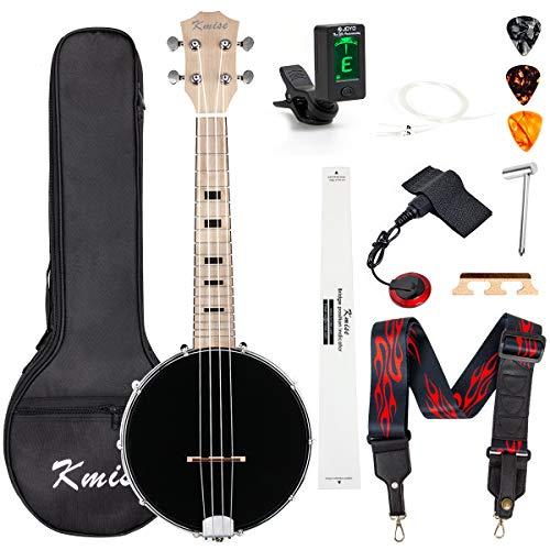 Kmise Banjolele Concierto Banjo Ukelele 4 cuerdas de 23