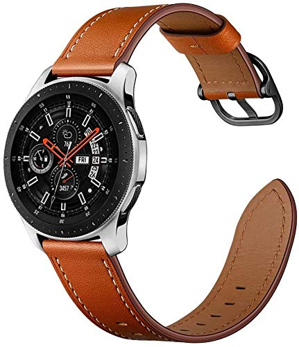 ANYE Correas de Piel Samsung Gear S3 Frontier/Classic,Correas Cuero Reloj Samsung Galaxy Watch 46mm Pulsera Correas de Repuesto para Samsung Galaxy Watch 3 45mm / Huawei Watch GT 2 46mm