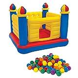 INTEX Inflatable Jump-O-Lene Ball Pit Castle Bouncer w/ 100 Play Balls