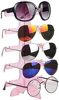 MAGIKON 5 Layers Glasses Eyeglasses Sunglasses Show Stand Holder Fashion Frame Display Rack (5-Layer, Pink)