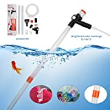 DOCEAN Aquarium Gravel Cleaner Vacuum Siphon Pump with Air-Pressing Button,Multifunctional Gravel Cleaner Water Filter for Water Changing,Sand Washing, Absorption of Feces