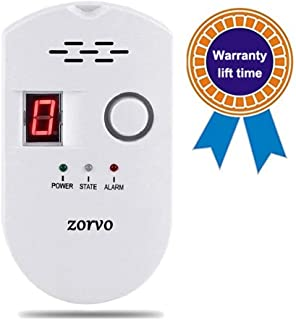 zorvo Propane/Natural Plug-in Digital Gas Detector High Sensitivity LPG/Coal/Natural Gas Leak Detection Alarm Monitor Sensor for Home/Kitchen Gas Alarm Detector Gas Leak Detector